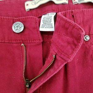 Vanilla Star Pants - Vanilla Star Burgundy Skinny Fit Jeans 16
